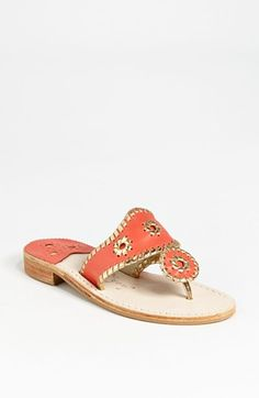 Jack Rogers Thong Sandal available at #Nordstrom in bone/white you can probally find some for cheaper on ebay