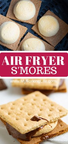 air fryer recipes You wont need a campfire to make these smores, all you need is an Air Fryer. Delicious roasted marshmallows roasted right in the Air Fryer in less than 10 minutes. Its the perfect easy dessert. Air Fryer Oven Recipes, Air Fryer Dinner Recipes, Air Fryer Recipes Potatoes, Air Fryer Baked Potato, Baked Potatoes, Marshmallows, Avocado Toast, Air Fryer Fish, Sauce Pizza