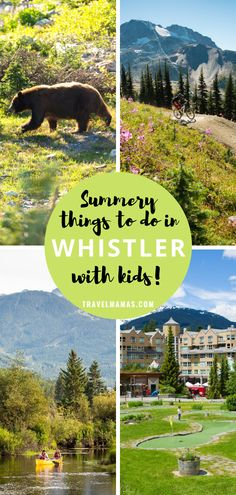 If you're looking for beautiful location filled with adventurous things for families to do together, then you'll love Whistler in British Columbia, Canada! This ski resort area is a nature lovers paradise with plenty of wildlife and outdoorsy activities. #whistler #naturelover #britishcolumbia #travelwithkids Travel With Kids, Family Travel, Road Trip With Kids, Camping Places, Camping Spots, Go Camping, Family Vacation Destinations, Travel Destinations, Travel Tips