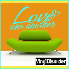 Love one another Love & Laughter Vinyl Wall Decal Sticker Mural Quotes Words LO024LoveoneVI