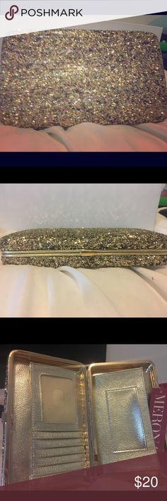 large hinge clutch colored : gold Bags Clutches & Wristlets