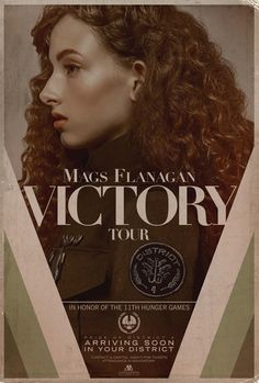 "Check out a pair of vintage Victory Tour posters for The Hunger Games: Mockingjay - Part 2, just released by ""The Capitol"" and featuring a familiar face."