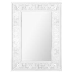 Nikos Hollywood Regency Cut Greek Tile Pattern Wall Mirror | Kathy Kuo Home