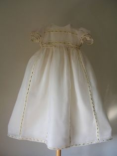 Fantasy: Handmade christening gown with bonnet by ExquisiteDesignRS in DaWanda.com