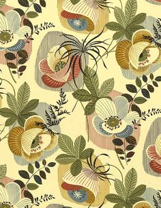 Stripes and Floral 50's Pattern