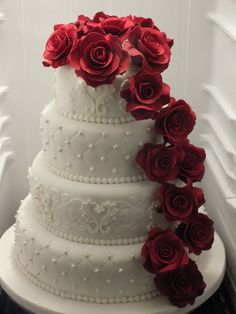 Gorgeous wedding cake  ~ all edible