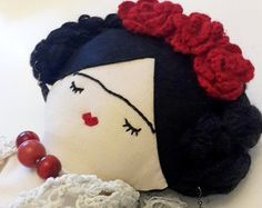 FRIDA KAHLO doll Mexican art doll for collectors by missJoyka