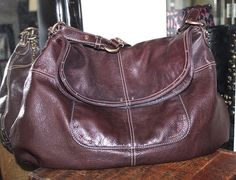 Hayden Harnett Brown Leather Havana Hobo Women Satchel Handbag #HaydenHarnett #hobosatchel