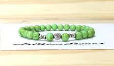6mm Green Turquoise Gemstones Stretch Tibetan Bracelet, Healing Chakra Protection Yoga Mala Scorpio Sagittarius Aquarius Pisces Bracelet by ArtGemStones on Etsy