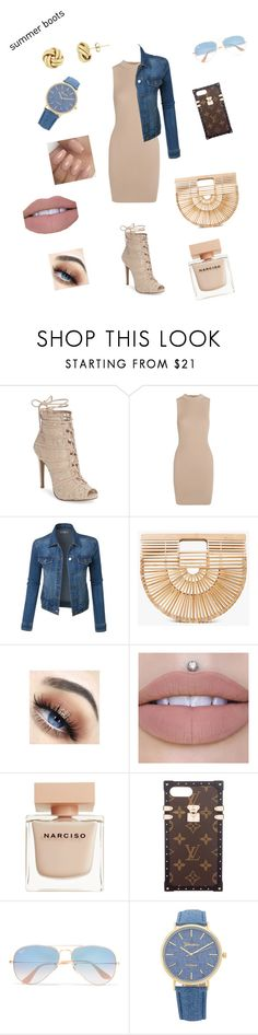 """Summer Boots 2"" by starrjai ❤ liked on Polyvore featuring Chinese Laundry, Tart, LE3NO, Cult Gaia, Narciso Rodriguez, Louis Vuitton and Ray-Ban"