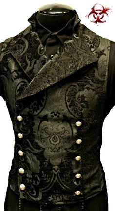 CAVALIER VICTORIAN TAPESTRY STEAMPUNK DOUBLE BRESTED VEST