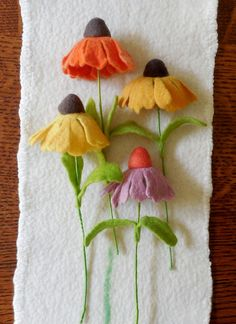 Coneflower  Felted Flower  create your own by SPRIGSfeltedflowers