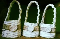 Paper baskets for flower girls / Papierové košíky pre družičky