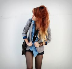 Two-tone. I want to do this to my hair as soon as it grows out!