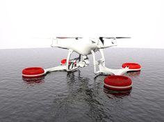 Triskel - SAR Floating System for DJI Phantom 4 by LCdesign