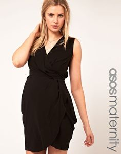 ASOS Maternity Tulip Dress With Wrap Detail ($41.72)