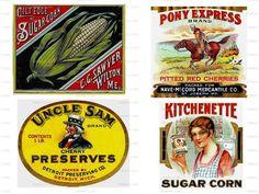 Vintage Can Food Labels Advertising Images Digital Image Download No 1095. $1.00, via Etsy.