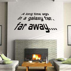 Uzun'un Süre Önce, bir Galaxy Far Dışarıda Star Wars Duvar çıkartmaları Etiketler Yazı Duvar Kağıdı Dekor icinde