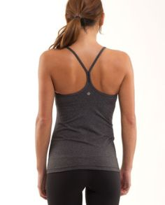 Power Y Tank by Lulu Lemon  in heathered black... perfect for yoga :)