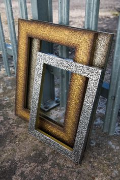Add pizzazz to contemporary décor with a glitzy, bold and super funky metallic picture frame. Quantum from http://mainlinemouldings.com/index.php?DepartmentID=17&ProductRange=Polcore&CategoryID=543
