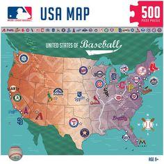 USA Team Map - MLB | Things I Like | Pinterest | Baseball field ...