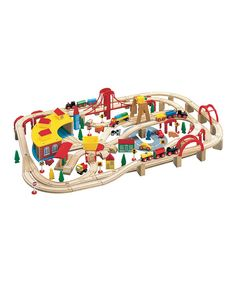 Take a look at this Extra-Large Wooden Train Set on zulily today!