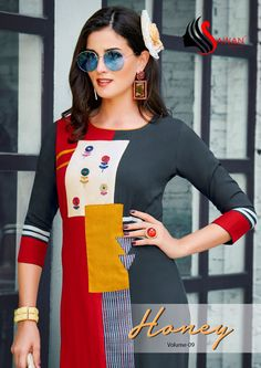 Sawan Creation Presents Honey Vol 9 901 To 912 Series Catalogue Of Heavy Reyon Fabric Casual Wear Full Stitched Kurti With Beautiful Embrodery Work At Affordable Price Buy Online From Surat Exporters - Ethnic Collection Simple Kurti Designs, Kurta Designs Women, Stylish Kurtis Design, Clothing Store Displays, Baby Dress Design, Kurta Neck Design, Dress Neck Designs, Stylish Sarees, Patchwork Dress