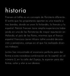 Floristeria Madrid | Fransen et Lafite
