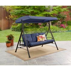 Heavy Duty Steel Hammock Stand Tri Beam Outdoor Yard Patio Swing With Carry  Bag | Pinterest | Patio Swing, Hammock Stand And Beams