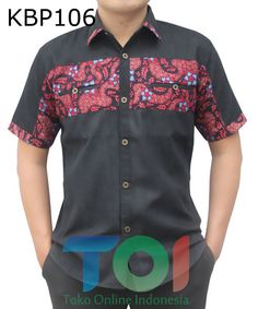 kemeja batik kombinasi bahan denim African Shirts For Men, African Dresses Men, African Clothing For Men, Latest African Fashion Dresses, African Print Fashion, African Attire, African Wear, African Print Shirt, Nigerian Men Fashion