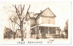 Photo postcard of the house at 1365 Ashland NE - c. 1925-1950