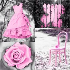 My Creation: Pink Color Splash Collage --Ladee Pink