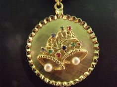 1940s-Gorgeous-Vintage-14k-Yellow-Gold-Jewelry-3-D-Bell-Charm-Pendant-Jewelry..