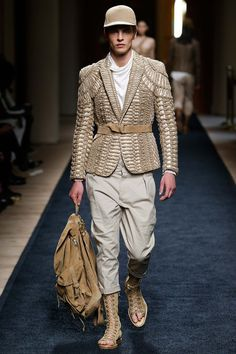 See the Balmain spring/summer 2016 menswear collection. Click through for full gallery