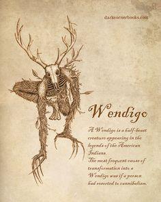 Dark Corner Bestiary- WENDIGO #1 | Dark Corner Books