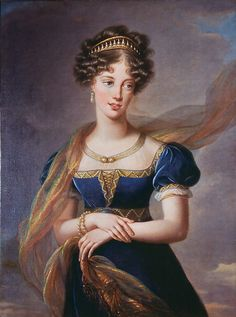 The Duchesse de Berry in a Blue Velvet Dress by Elisabeth Vigee-Lebrun, 1824. (via The Met)