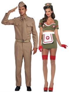 Turn up the sex appeal this Halloween with one of our sexy nurse costumes. We have naughty nurse costumes and sexy nurse outfits that are sure to please. Army Costume, Sexy Nurse Costume, Cute Couple Halloween Costumes, Soldier Costume, Halloween Kostüm, Halloween Outfits, Adult Costumes, Reddit Halloween, Couple Costumes