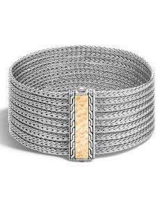 Y34X5 John Hardy Medium Classic Chain Nine-Row Bracelet