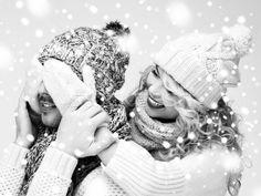 Влюбленные зимой, влюбленные чб, зима в чб, пара зимой