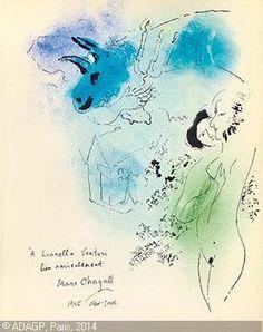 Bouc bleu au chandelier pour Lionello Venturi sold by Galerie Kornfeld, Bern, on Friday, June 14, 2013