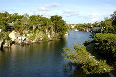 Waterway in Coral Gables.