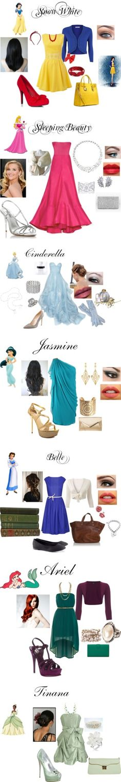 """Disney Princesses"" by nchavez113 on Polyvore"