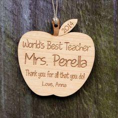 Personalized Teacher Gift: Personalized Apple Teacher Ornament/Apple Ornament/Teacher Appreciation/Apple Wedding Favor/Graduation/Retirement