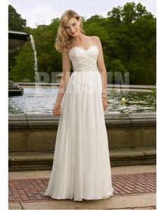 Beautiful & Unique dress - Beading Sweetheart Chiffon A-line Wedding Dress on sale - Persun