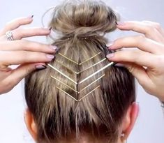 """RepostBy """"I love adding bobby pins to add an edgy flare to any hairstyle. Plus, it adds hold to my baby/short hairs that can't go up. ・ ▹ MetaGrip Bobby pins from Sally's Beauty Supply Sore ・ ▹ Shirt from ・ ▹ Music: """"Tease Cabelo Ombre Hair, Curly Hair Styles, Natural Hair Styles, Bobby Pin Hairstyles, Dreadlock Hairstyles, Black Hairstyles, Wedding Hairstyles, Sally Beauty, Hair Makeup"""