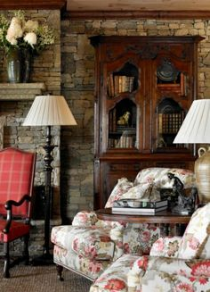 Cozy Set Up Living Room Decor Country, French Country Living Room, Cottage Living, French Country Decorating, English Living Rooms, English Cottage Decorating, Cozy Living, Small Living, Living Area