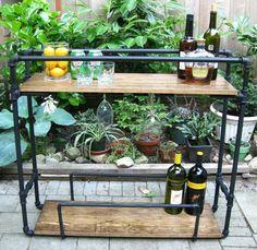 {DIY} Pipe Bar Cart!