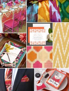 Ikat Wedding Inspiration - http://bridalresources.theaspenshops.com/category/newarrivals!.html