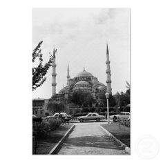 Buy purchase digital photography photograph photo picture image print 1970s 1970 download file antique old vintage archive historic historical hight resolution bw black white stock collection licence royalty free RF Asia Turkey Istanbul Blue Mosque $3.95