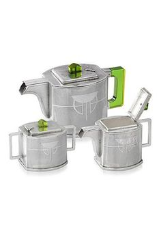 Art Deco Silver and Bakelite Tea Service:
